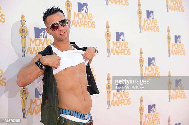 Mike 'The Situation' Sorrentino arrives at the 2010 MTV Movie Awards at Gibson Amphitheatre on June 6 2010 in Universal City California