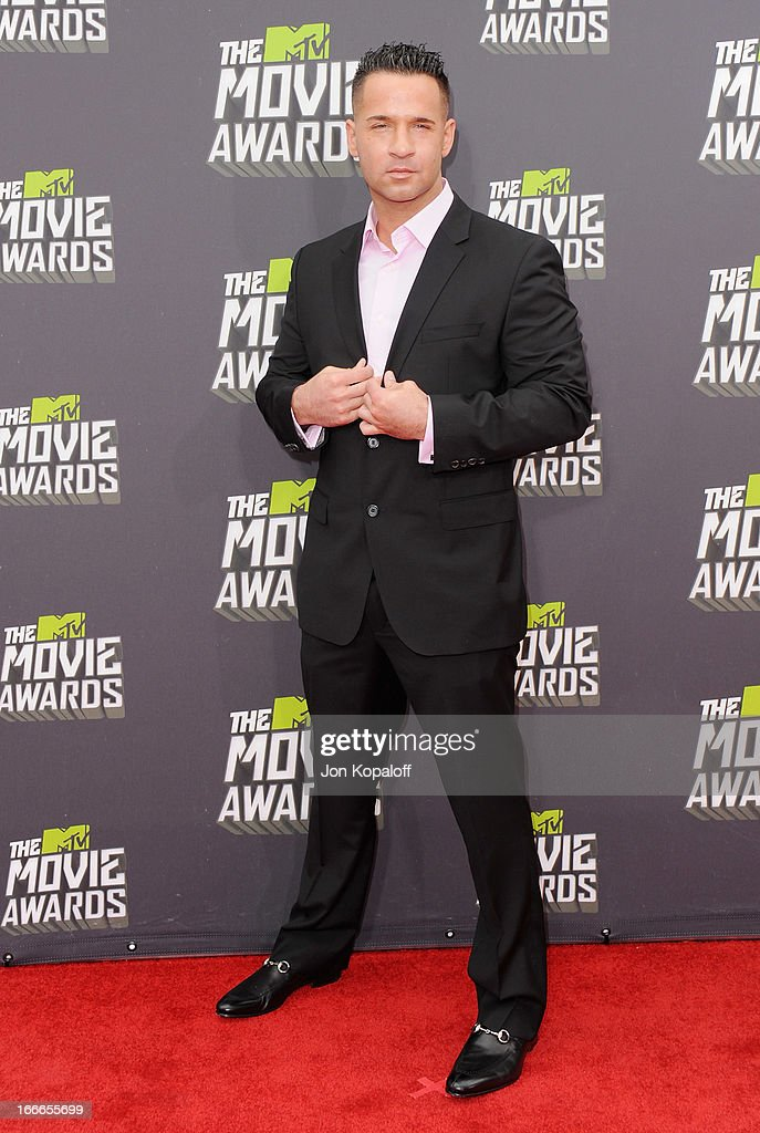 Mike 'The Situation' Sorrentino arrives at the 2013 MTV Movie Awards at Sony Pictures Studios on April 14, 2013 in Culver City, California.