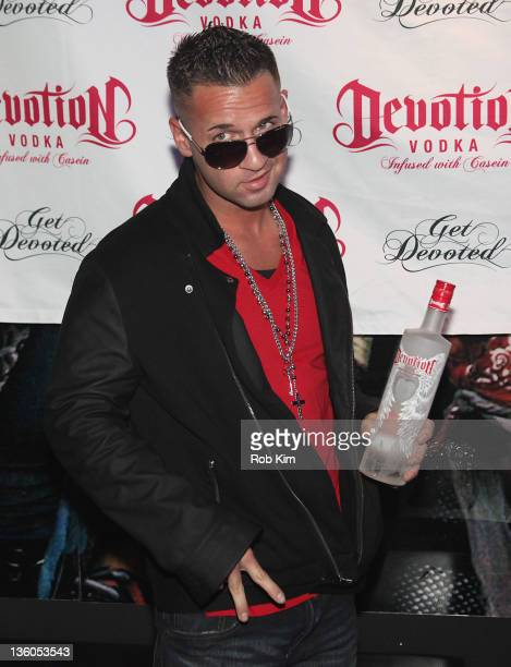 Mike 'The Situation' Sorrentino attends the Devotion Vodka launch party at Culture Club on December 17 2011 in New York City