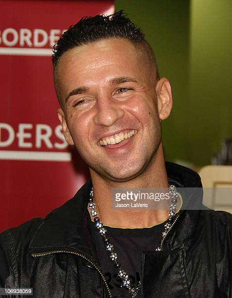 Mike 'The Situation' Sorrentino signs copies of his new book 'Here's The Situation' at Borders on November 16 2010 in Century City California