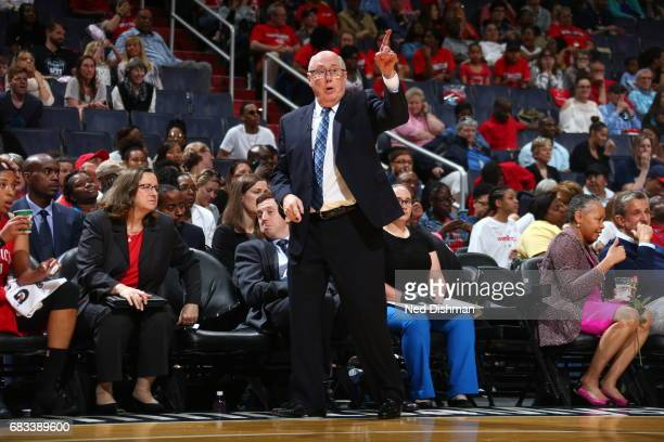 Mike Thibault of the Washington Mystics during the game against the San Antonio Stars on May 14 2017 at Verizon Center in Washington DC NOTE TO USER...