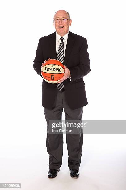 Mike Thibault of the Washington Mystics poses for a photo during 2015 Washington Mystics media day at the Verizon Center on May 18 2015 in Washington...