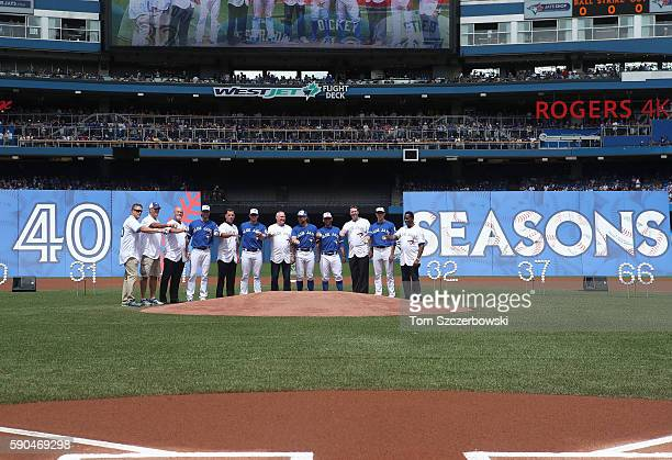 Mike Timlin of the Toronto Blue Jays and Tom Henke and Duane Ward and JA Happ and Pat Hentgen and Brett Cecil and Dave Stieb and RA Dickey and Marco...