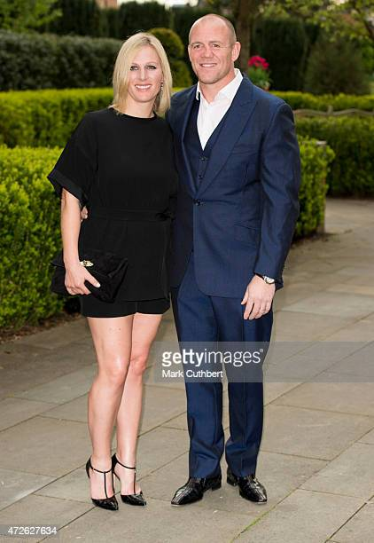 Mike Tindall and Zara Phillips attend a dinner at the ISPS Handa Mike Tindall 3rd annual celebrity golf classic at The Grove Hotel on May 8 2015 in...