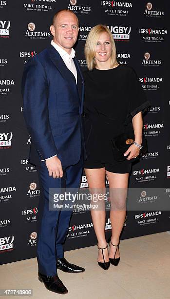 Mike Tindall and Zara Phillips attend an evening reception for the ISPS Handa Mike Tindall 3rd Annual Celebrity Golf Classic at the Grove Hotel on...