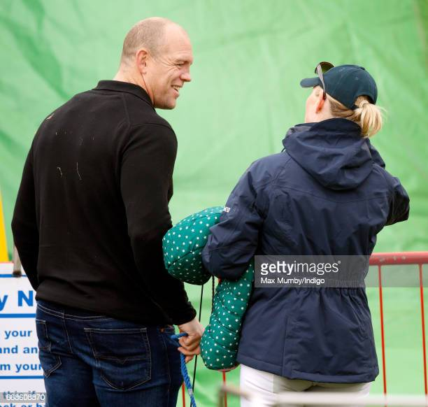 Mike Tindall and Zara Phillips attend the Burnham Market Horse Trials on April 14 2017 in Burnham Market England