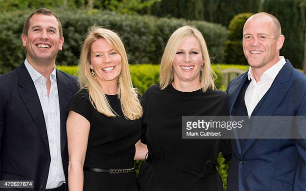 Mike Tindall and Zara Phillips with Peter Phillips and Autumn Phillips attend a dinner at the ISPS Handa Mike Tindall 3rd annual celebrity golf...