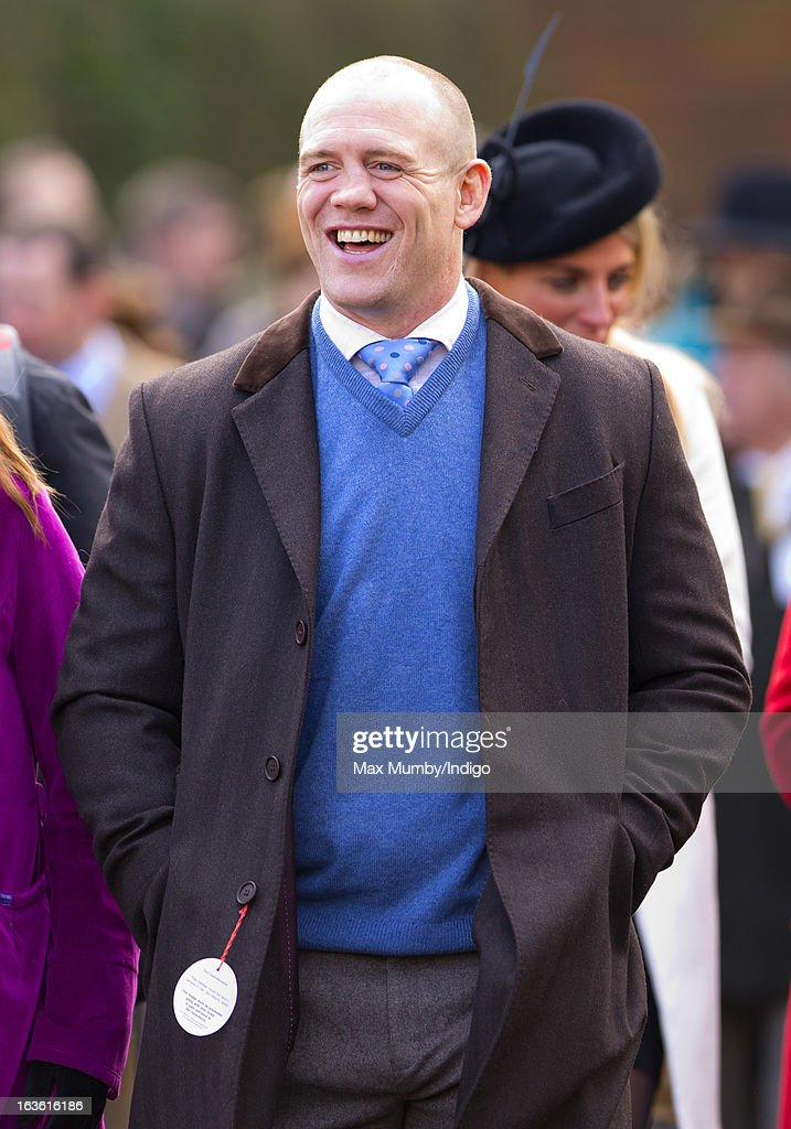 Mike Tindall attends Day 2 of The Cheltenham Festival at Cheltenham Racecourse on March 13, 2013 in London, England.