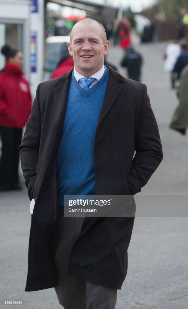 Mike Tindall attends the Cheltenham Festival Day 2 on Ladies Day at Cheltenham racecourse on March 13, 2013 in London, England.