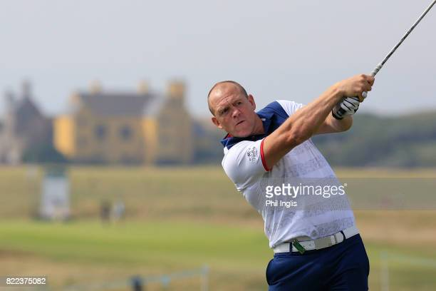 Mike Tindall in action during the ProAm ahead of The Senior Tour Open Championship played at Royal Porthcawl Golf Club on July 25 2017 in Bridgend...