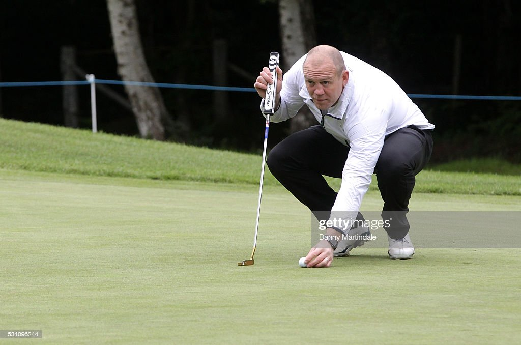 <a gi-track='captionPersonalityLinkClicked' href=/galleries/search?phrase=Mike+Tindall&family=editorial&specificpeople=204210 ng-click='$event.stopPropagation()'>Mike Tindall</a> plays at the BMW PGA Celebrity Pro-Am Golf Championship at Wentworth on May 25, 2016 in Virginia Water, England.