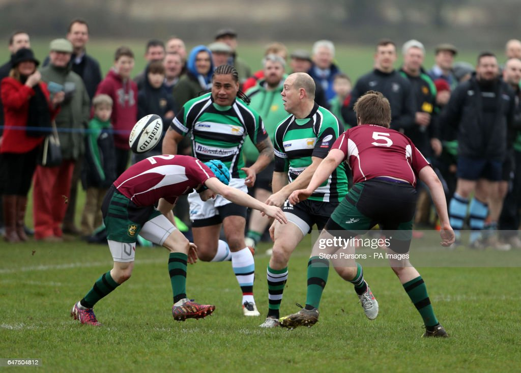 mike-tindall-plays-in-a-friendly-game-during-a-visit-by-the-princess-picture-id647504812