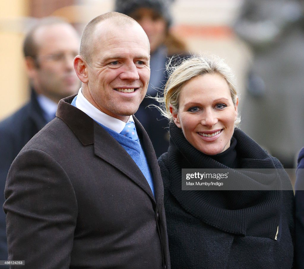 <a gi-track='captionPersonalityLinkClicked' href=/galleries/search?phrase=Mike+Tindall&family=editorial&specificpeople=204210 ng-click='$event.stopPropagation()'>Mike Tindall</a> & <a gi-track='captionPersonalityLinkClicked' href=/galleries/search?phrase=Zara+Phillips&family=editorial&specificpeople=161323 ng-click='$event.stopPropagation()'>Zara Phillips</a> stand in the winners enclosure after Monbeg Dude (owned by <a gi-track='captionPersonalityLinkClicked' href=/galleries/search?phrase=Mike+Tindall&family=editorial&specificpeople=204210 ng-click='$event.stopPropagation()'>Mike Tindall</a>) won the Majordomo Hospitality Handicap Steeple Chase at The International meeting at Cheltenham Racecourse on December 13, 2013 in Cheltenham, England.