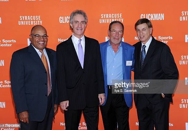 Mike Tirico James Freedman Ed Goren and Marv Albert attend Syracuse University special screening of the HBO documentary 'GLICKMAN' at Time Warner...