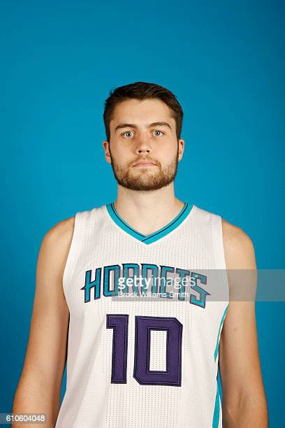 Mike Tobey of the Charlotte Hornets poses for a head shot during the 20162017 Charlotte Hornets Media Day at the Time Warner Cable Arena on September...