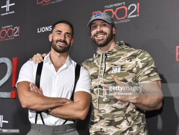 Mike Tornabene and Bradley Martyn arrive at the premiere of Lionsgate's 'Tyler Perry's Boo 2 A Madea Halloween' at Regal LA Live Stadium 14 on...