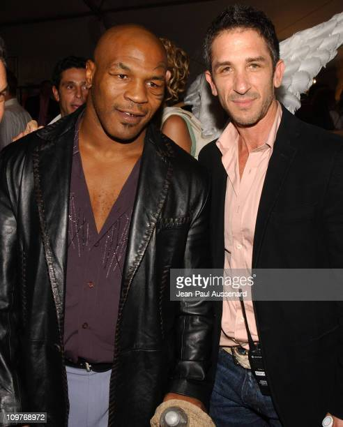 Mike Tyson and Davis Factor during MercedesBenz Spring 2006 LA Fashion Week at Smashbox Studios Day 4 Arrivals at Smashbox Studios in Culver City...