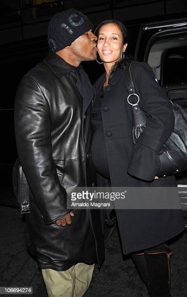 Mike Tyson and his pregnant wife Lakiha Spicer walk in the city on November 11 2010 in New York City