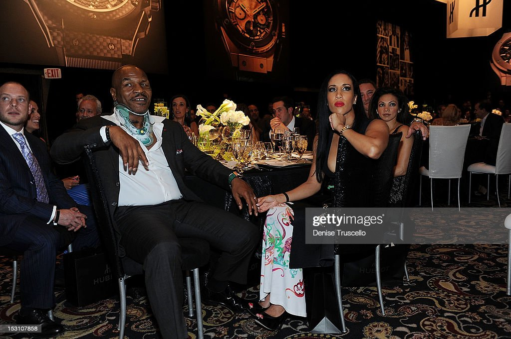 Mike Tyson and Kiki Tyson attend at 'A Legendary Evening With Hublot And WBC' at Bellagio Las Vegas on September 29, 2012 in Las Vegas, Nevada.