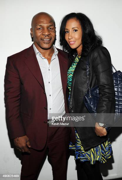 Mike Tyson and Lakiha Spicer attend Adult Swim Upfront Party 2014 at Terminal 5 on May 14 2014 in New York City 24748_001_0159JPG