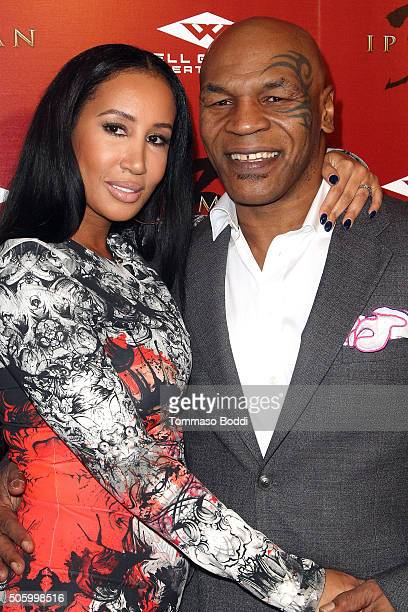 Mike Tyson and Lakiha Spicer attend the premiere of Well Go USA Entertainment's 'Ip Man 3' held at Pacific Theatres at The Grove on January 20 2016...