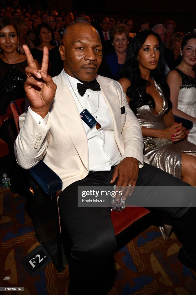 <a gi-track='captionPersonalityLinkClicked' href=/galleries/search?phrase=Mike+Tyson&family=editorial&specificpeople=194986 ng-click='$event.stopPropagation()'>Mike Tyson</a> attends The 67th Annual Tony Awards backstage at Radio City Music Hall on June 9, 2013 in New York City.