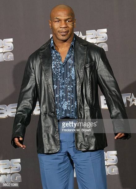 Mike Tyson attends the BET 25th Anniversary Show at the Shrine Auditorium on October 26 2005 in Los Angeles California