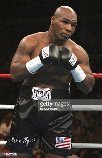 Mike Tyson before his fight against Kevin McBride at the MCI Center in Washington DC McBride won the fight when Tyson failed to answer the bell for...
