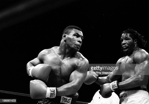 Mike Tyson lands a left punch to Mitch Green during a bout at Madison Square Garden on May 20 1986 in New York New York Mike Tyson won by a UD 10