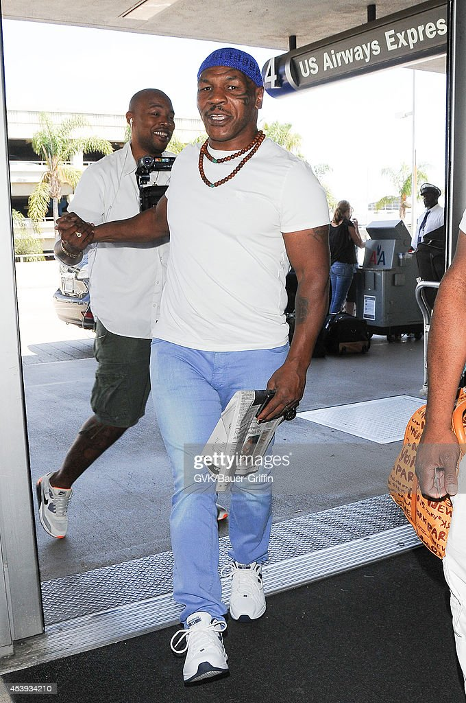 Mike Tyson seen at LAX on August 21, 2014 in Los Angeles, California.