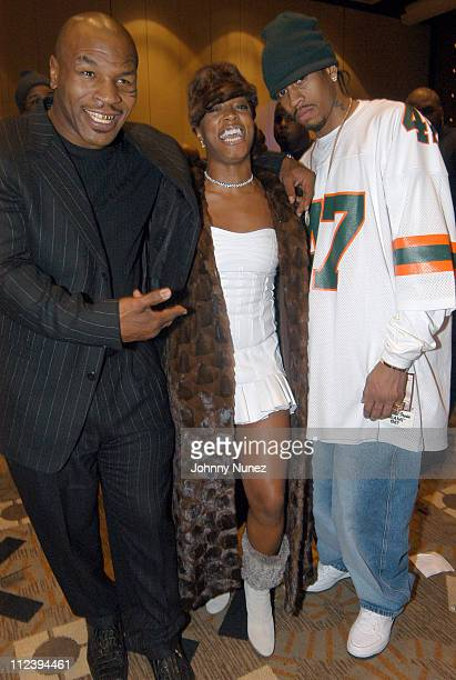 Mike Tyson Sharissa and Allen Iverson of the Philadelphia 76ers