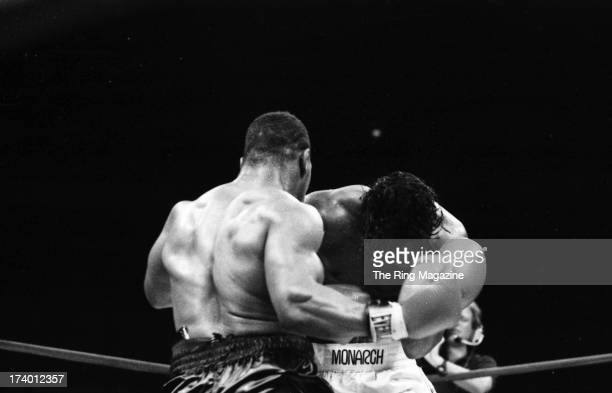 Mike Tyson throws a punch against Mitch Green during the fight at Madison Square Garden in New York New York Mike Tyson won by a UD 10