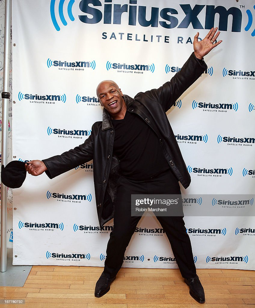 Mike Tyson visits the SiriusXM Studios on December 6, 2012 in New York City.