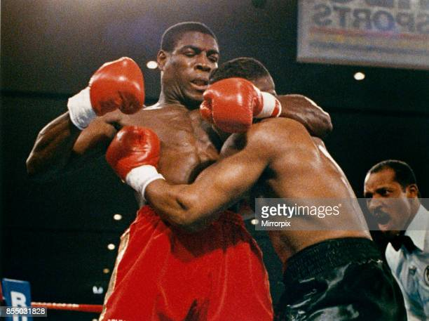 Mike Tyson vs Frank Bruno for the WBA WBC IBF and lineal heavyweight championships tyson defeated Bruno by way of TKO in round five 25th February 1989