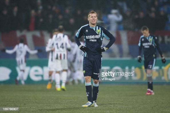 Mike van Duinen of ADO Den Haag during the Dutch Eredivise match between Willem II and ADO Den Haag at the Koning Willem II Stadium on January 20...