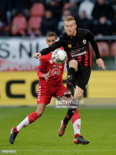 Mike van Duinen of Excelsior during the Dutch Eredivisie match between FC Utrecht v Excelsior at the Stadium Galgenwaard on November 19 2017 in...