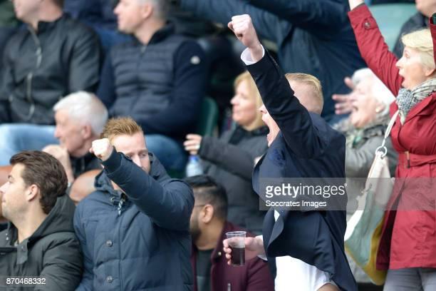 Mike van Duinen of Excelsior Tom Beugelsdijk of ADO Den Haag celebrating 21 of Wilfried Kanon of ADO Den Haag during the Dutch Eredivisie match...