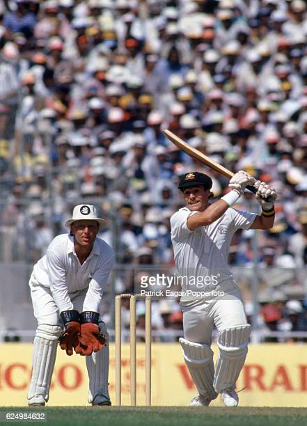 Mike Veletta batting for Australia during his innings of 45 not out in the World Cup Final between Australia and England at Eden Gardens Calcutta...