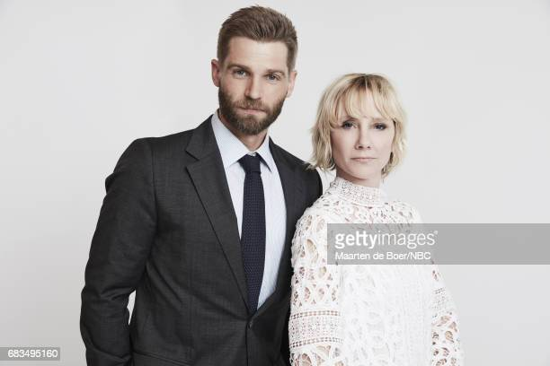 Mike Vogel and Anne Heche of 'The Brave' pose for a photo during NBCUniversal Upfront Events Season 2017 Portraits Session at Ritz Carlton Hotel on...