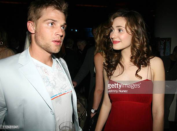 Mike Vogel and Emmy Rossum during 'Poseidon' After Party at Barneys at Barneys in New York City New York United States