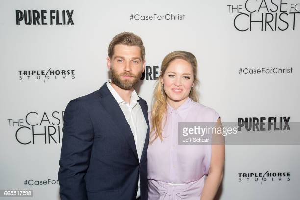 Mike Vogel and Erika Christensen attend The Case For Christ Premiere at AMC River East Theater on April 6 2017 in Chicago Illinois