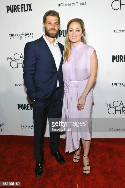 Mike Vogel and Erika Christensen attend the Chicago premiere of 'The Case For Christ' at AMC River East Theater on April 6 2017 in Chicago Illinois