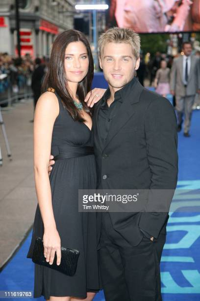 Mike Vogel and Guest during 'Poseidon' London Premiere Outside Arrivals at Empire Leicester Square in London Great Britain