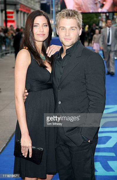 Mike Vogel and partner during 'Poseidon' London Premiere Outside Arrivals at Empire Leicester Square in London Great Britain