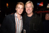 Mike Vogel and Steve Austin producer during 'Supercross' Los Angeles Premiere After Party at Q's in Westwood California United States