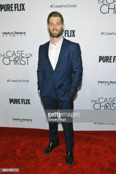 Mike Vogel attends the Chicago premiere of 'The Case For Christ' at AMC River East Theater on April 6 2017 in Chicago Illinois