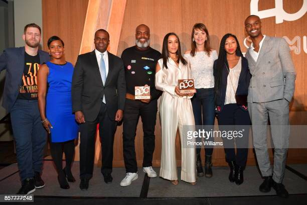 Mike Walbert Keisha Lance Bottoms Kasim Reed Kevin 'Coack K' Lee and Angela Rye attend A3C Welcome To Atlanta Reception at the Loudermilk Conference...