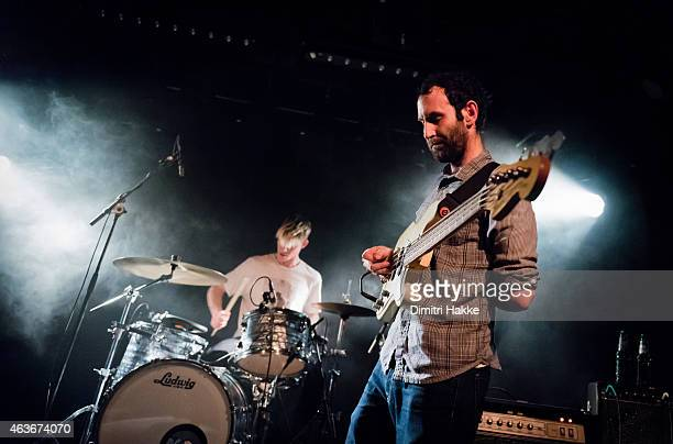 Mike Wallace and Matt Flegel of Viet Cong perform on stage at Rotown on February 16 2015 in Rotterdam Netherlands