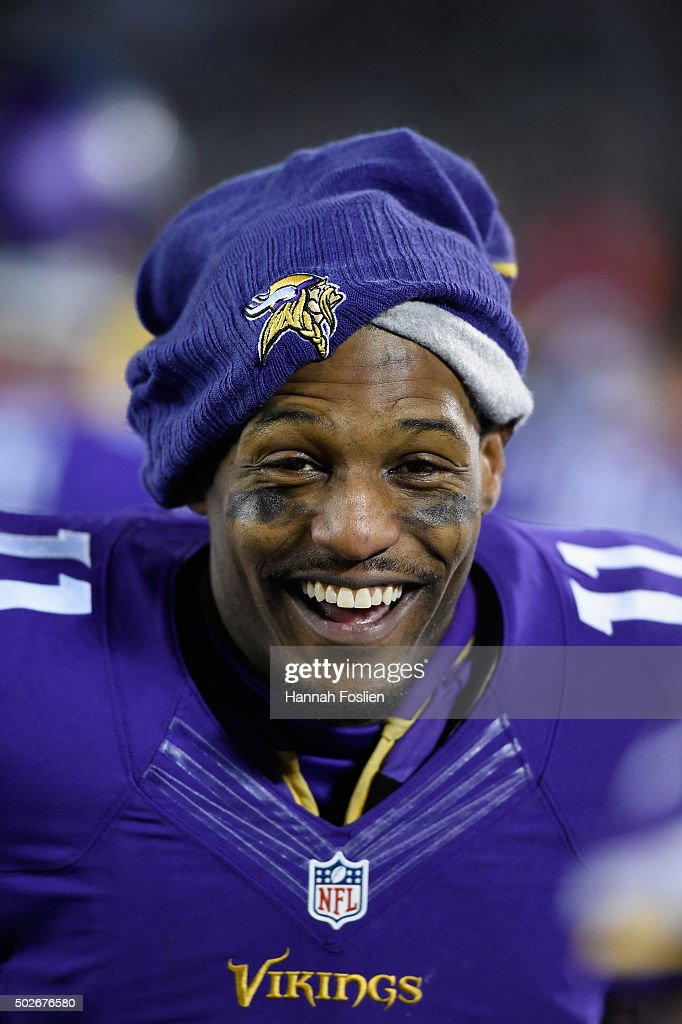 Mike Wallace #11 of the Minnesota Vikings looks on during the fourth quarter of the game against the New York Giants on December 27, 2015 at TCF Bank Stadium in Minneapolis, Minnesota. The Vikings defeated the Giants 49-17.