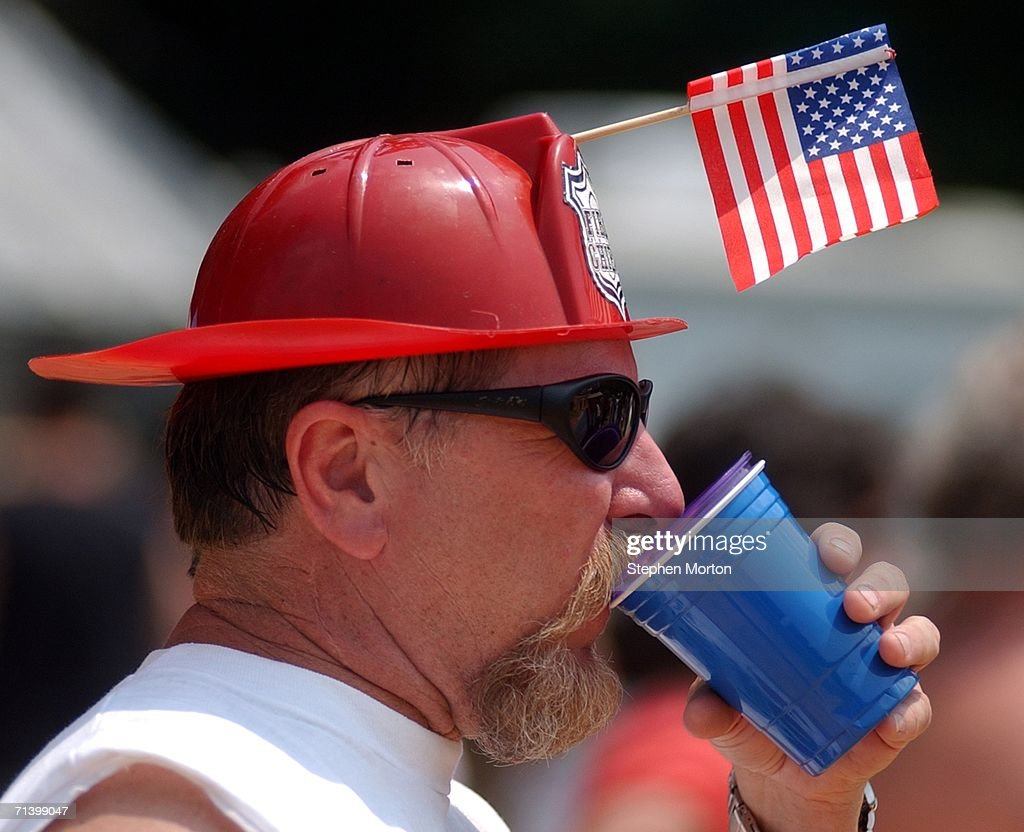 Mike Walraven of Augusta Georgia takes a drink during the 11th annual Summer Redneck Games July 8 2006 in Dublin Georgia Started in 1996 as a spoof...